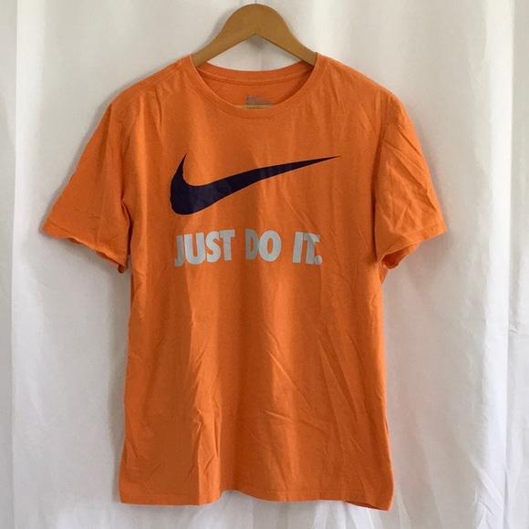 Nike Just Do It Orange T shirt Size Large
